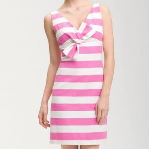 Kate spade silver screen pink and white dress